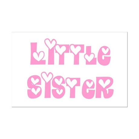 Little Sister Mini Poster Print