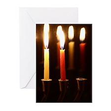 Menorah Chanukah (pk Of 10) Greeting Cards