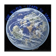 One World - Learn to Share Tile Coaster