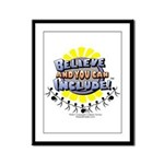 Believe and Include Framed Panel Print