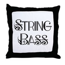 Classic String Bass Throw Pillow