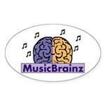 Oval MusicBrainz Sticker