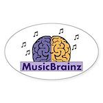 Oval MusicBrainz Sticker