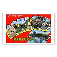 Ashland Kentucky Greetings Rectangle Decal