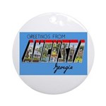 Augusta Georgia Greetings Ornament (Round)