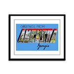 Augusta Georgia Greetings Framed Panel Print