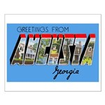 Augusta Georgia Greetings Small Poster