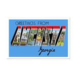 Augusta Georgia Greetings Mini Poster Print