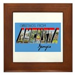 Augusta Georgia Greetings Framed Tile