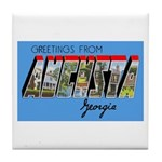 Augusta Georgia Greetings Tile Coaster