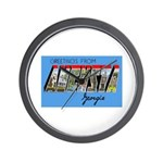Augusta Georgia Greetings Wall Clock