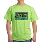 Augusta Georgia Greetings (Front) Green T-Shirt