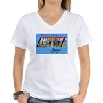 Augusta Georgia Greetings (Front) Women's V-Neck T
