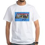 Augusta Georgia Greetings (Front) White T-Shirt