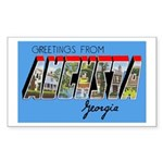 Augusta Georgia Greetings Rectangle Sticker