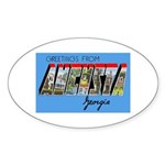 Augusta Georgia Greetings Oval Sticker