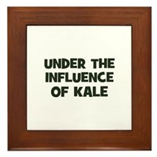 under the influence of kale Framed Tile
