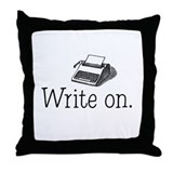 Cute Typewriter Throw Pillow