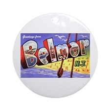 Belmar New Jersey Greetings Ornament (Round)