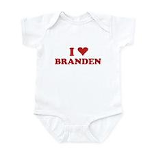 I LOVE BRANDEN Infant Bodysuit