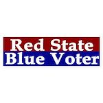Red State, Blue Voter (bumper sticker)