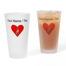 Custom Chihuahua Heart Drinking Glass