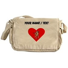 Custom Wirehaired Vizsla Heart Messenger Bag
