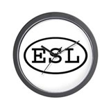 ESL Oval Wall Clock