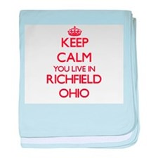 Keep calm you live in Richfield Ohio baby blanket
