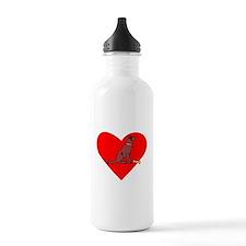 Chesapeake Bay Retriever Heart Water Bottle