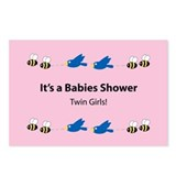 Twin Baby Girls Postcards (Package of 8)