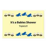 Triplets Baby Shower Postcards (Package of 8)