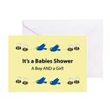 Twins: Boy and Girl Greeting Cards (Pk of 10)