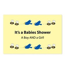 Twins: Boy and Girl Postcards (Package of 8)