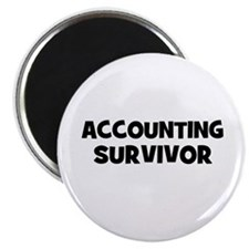 "accounting Survivor 2.25"" Magnet (10 pack)"