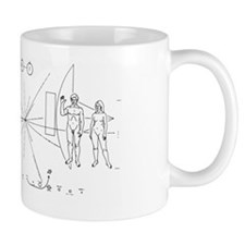 Pioneer 10 Eangraved 'Greetings' Space Mug