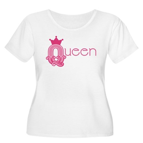 Queen Set Women's Plus Size Scoop Neck T-Shirt