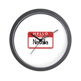 Hello Natalia Wall Clock