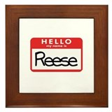 Hello Reese Framed Tile