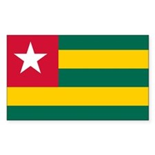 Togo Flag Rectangle Decal