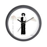 Ali in Black Wall Clock