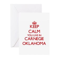 Keep calm you live in Carnegie Okla Greeting Cards