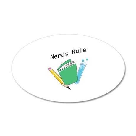 NERDS RULE Wall Decal