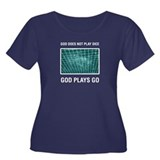 God Plays Women's Plus Size Scoop Neck Dark T-Shir