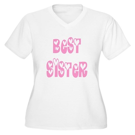 Best Sister Women's Plus Size V-Neck T-Shirt