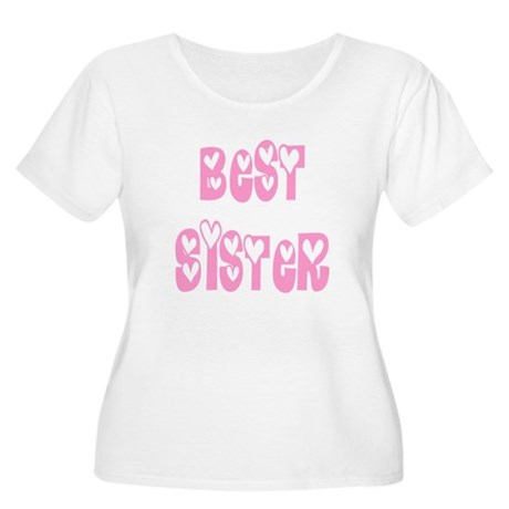 Best Sister Women's Plus Size Scoop Neck T-Shirt
