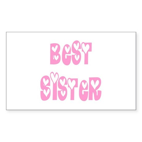 Best Sister Rectangle Sticker