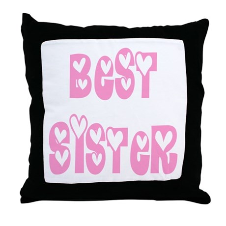 Best Sister Throw Pillow