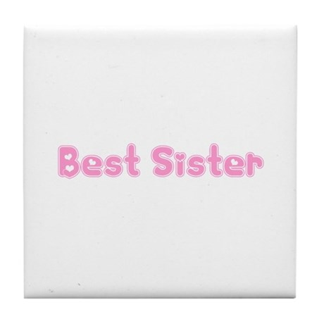 Best Sister Tile Coaster