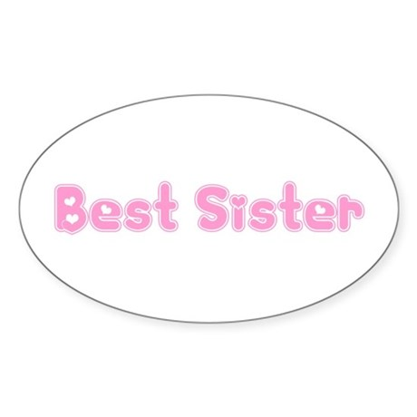 Best Sister Oval Sticker